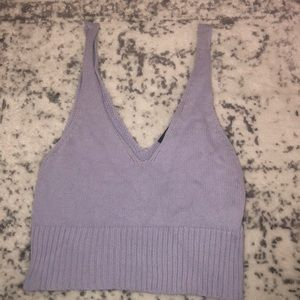 Lavender knitted cropped tank